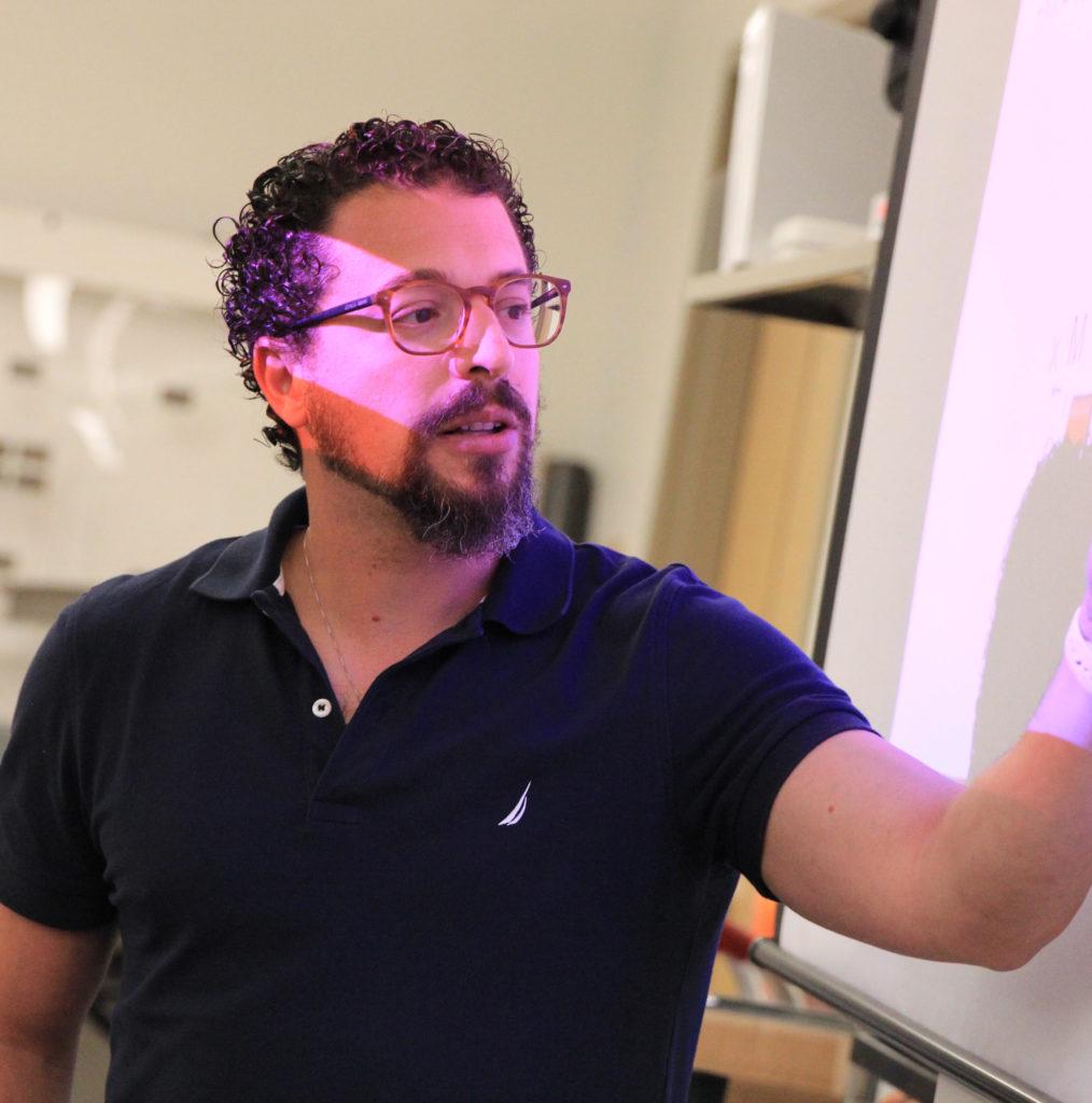 image of a man teaching
