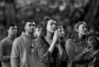image of people praying